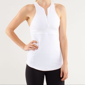 LULULEMON Zippy Run Racerback Tank in White EUC